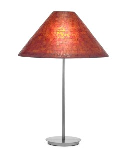 70-2507 mosaic, red, flair table lamp